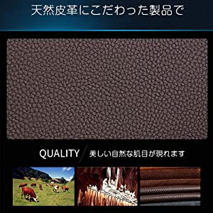 5a400800910d Amazon | 長財布 メンズ 二つ折り財布 本革 大容量 人気 ボックス型小銭 ...
