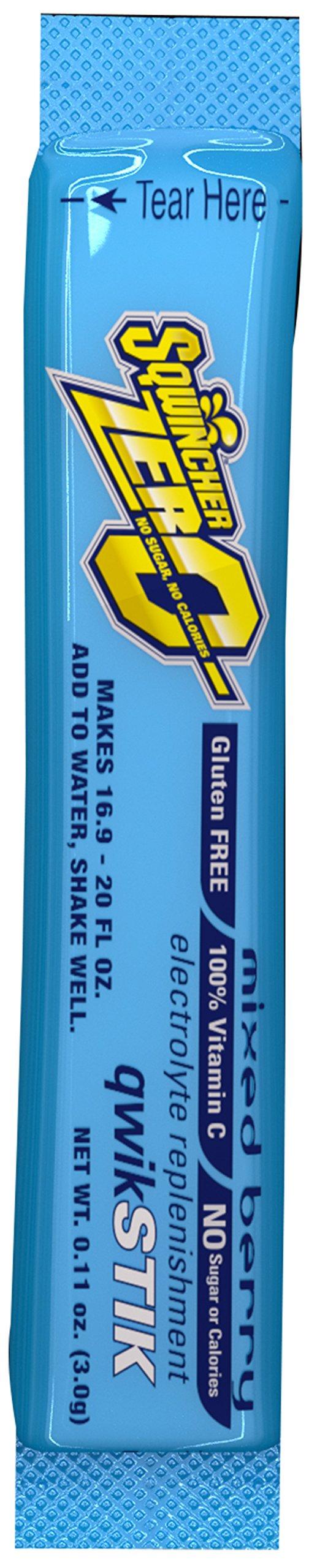 Sqwincher ZERO Qwik Stik - Sugar Free Electrolyte Powdered Beverage Mix, Mixed Berry 060118-MB (Case of 200)