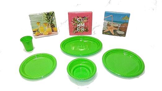 elegi. Platos de Plástico Desechables y Reciclables. Pack ...