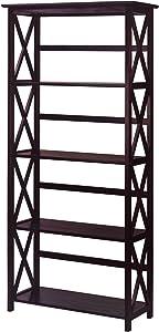 Casual Home Montego 5-Shelf Bookcase, Espresso (New)