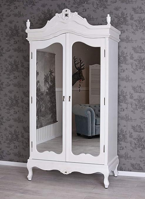 Vintage Kleiderschrank Shabby Chic Schrank Wäscheschrank Antik Stil vic426  Palazzo Exclusiv