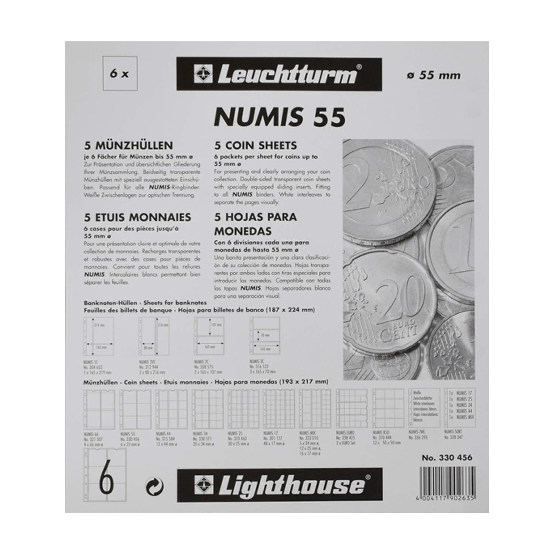 Leuchtturm 338571 5x Münzhüllen Numis 34 Zur Münz Aufbewahrung Für