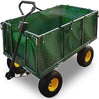 Deuba Bollerwagen | herausnehmbare Plane | bis 550kg belastbar - Handwagen Gartenkarre Gartenwagen Transportwagen Karre