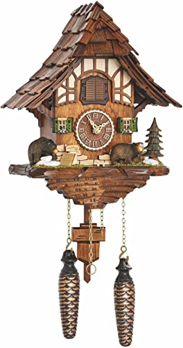 Trenkle Quartz Cuckoo Clock Black Forest House with Music TU 4201 QM