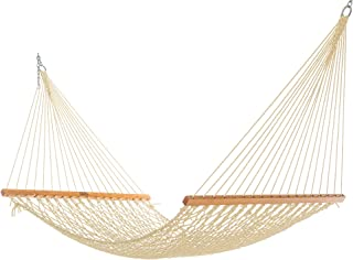 product image for Nags Head Hammocks NH11OT Single Oatmeal Duracord Rope Hammock with Free Extension Chains & Tree Hooks, Handcrafted in The USA, Accommodates 1 Person, 450 LB Weight Capacity, 12 ft. x 49 in.