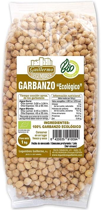Guillermo Garbanzos Ecológicos BIO 100% Natural Orgánico 1KG ...