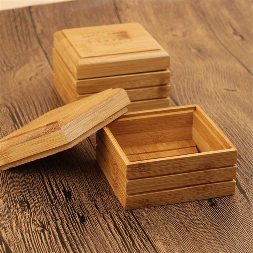 Huamao 1pc di bamb/ù Naturale del Sapone del Piatto di Sapone di Legno del Supporto del Vassoio di Immagazzinaggio di Sapone Cremagliera Piastra Box Container for Il Bagno