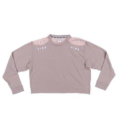 12856f8d9095a Victoria s Secret Cold Shoulder Crop Sweatshirt at Amazon Women s ...