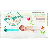 Ecoriginals - Eco Baby Nappies Size Newborn Plus (4-6 kg), Count 32, 1 Pack