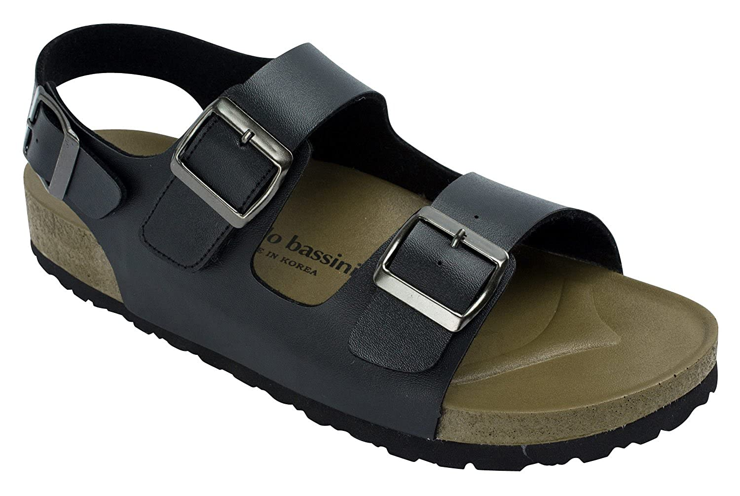 AB Mens 2-Strap with Buckle Slingback Sandal