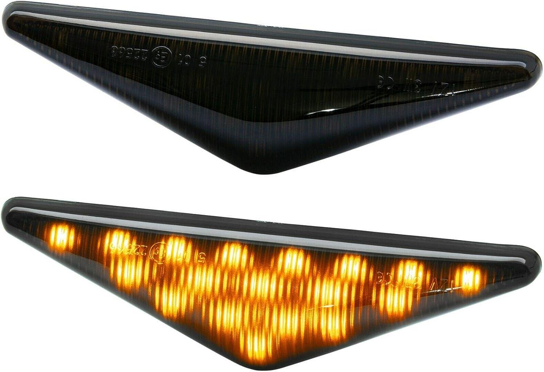 Mondeo III BJ 00-07 rm-style LED SEITENBLINKER Smoke kompatibel f/ür Ford Focus BJ 98-04 7924-1