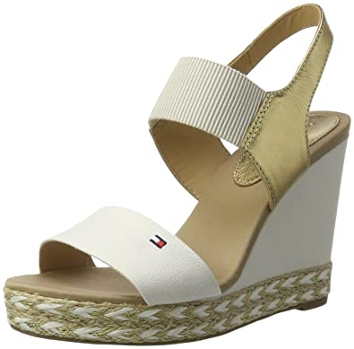 41cc28adac85c Tommy Hilfiger Women s E1285LENA 44C2 Wedge Heels Sandals