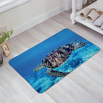 Delicieux Blue Sea Turtles Doormat Entrance Mat Floor Mat Rug Indoor/Bathroom Mats  Rubber Non Slip