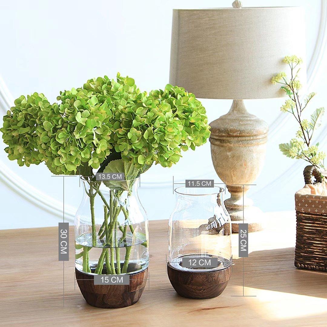 YKFN 花器 ガラス 北欧雑貨 ギフト おしゃれ フラワーベース 花瓶 インテリア 新築祝い 結婚祝い お洒落 クリスタル 贈り物 アレンジメント B07253FYCG 口径13.5x高さ30cm  口径13.5x高さ30cm