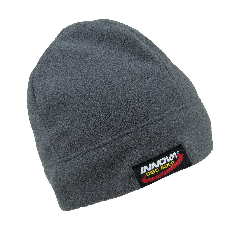 80a800e4b61 Amazon.com   Innova Disc Golf Logo Microfleece Beanie Winter Hat - Gray    Sports   Outdoors