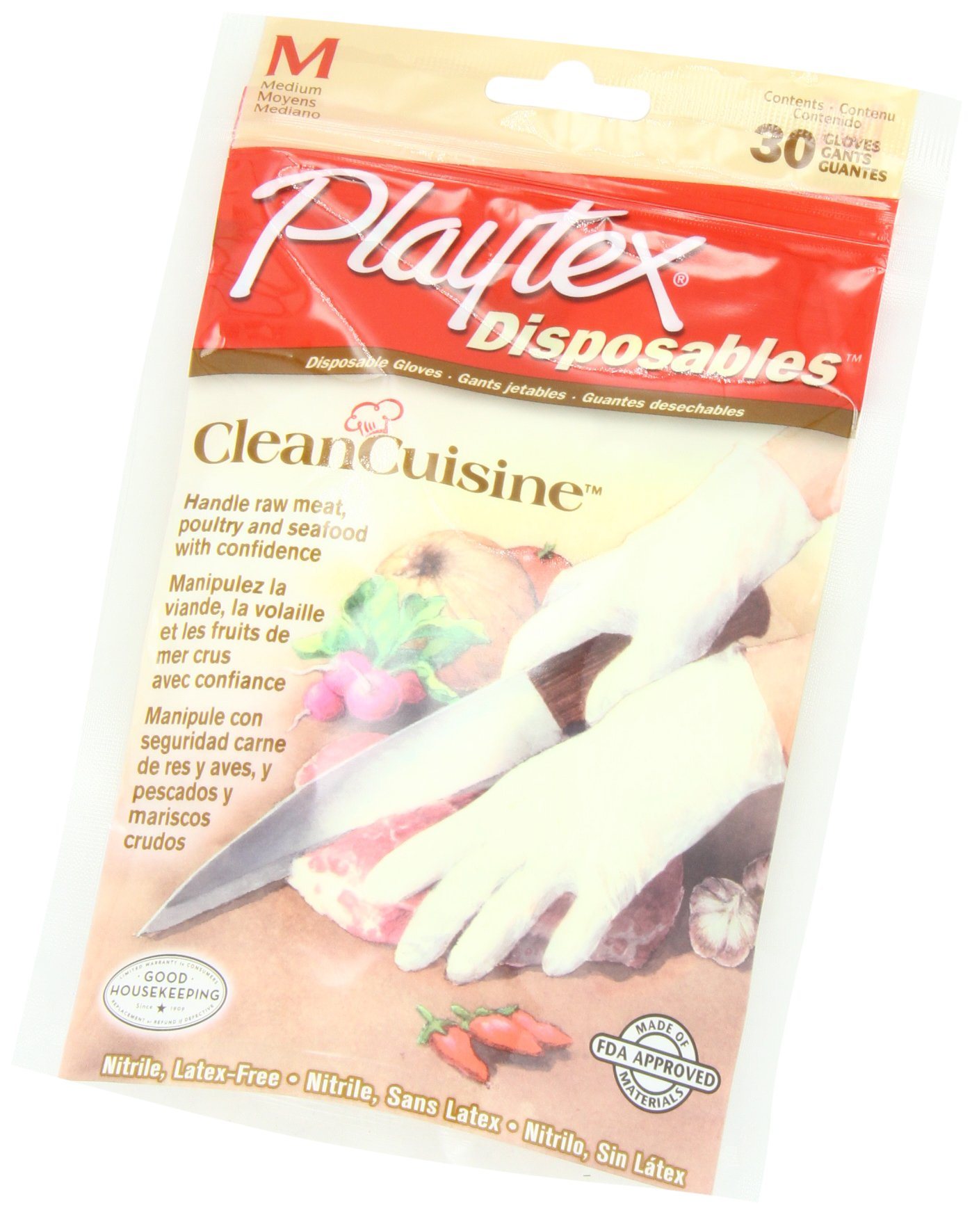 Playtex CleanCuisine Disposable Gloves Medium - 30-Count Package (Pack of 3) by Playtex (Image #3)