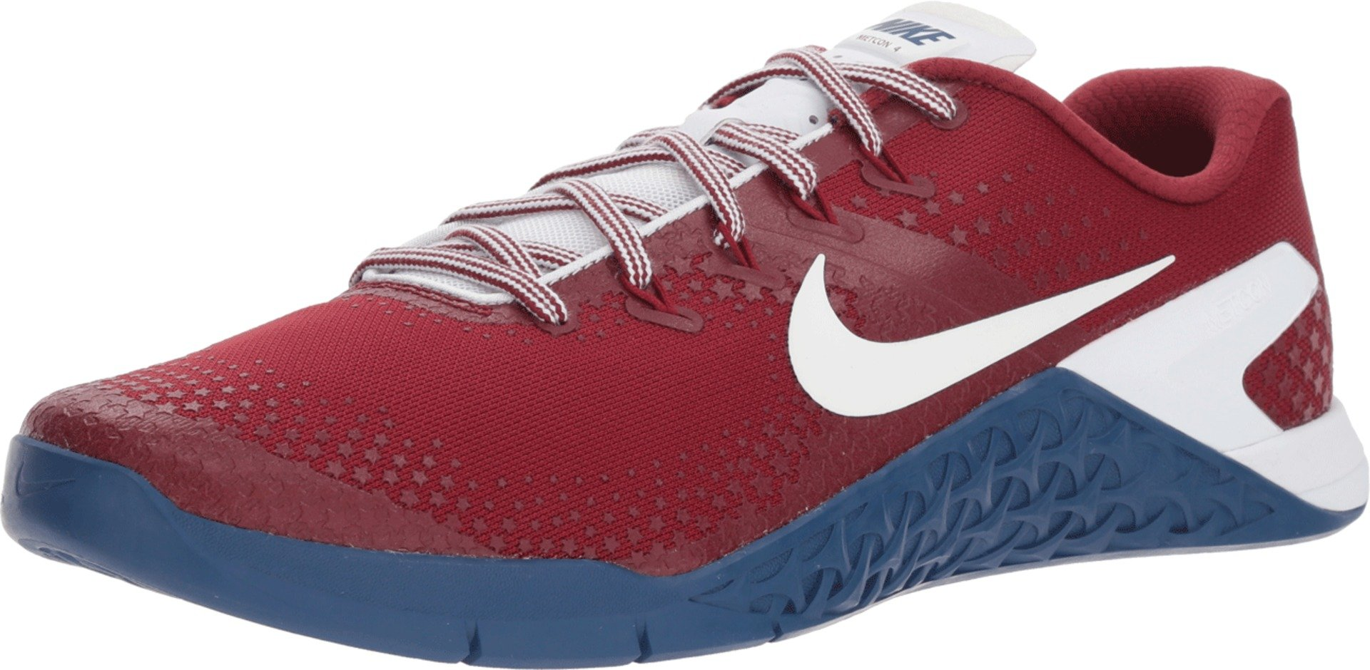 Nike Men's Metcon 4 Americana Training Shoe Team RED/White-Gym Blue 7.0