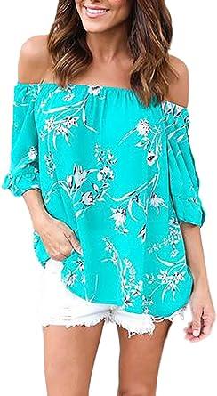 Mujer Camisetas Mujer Manga Corta Verano Elegante Blusas De Moda ...
