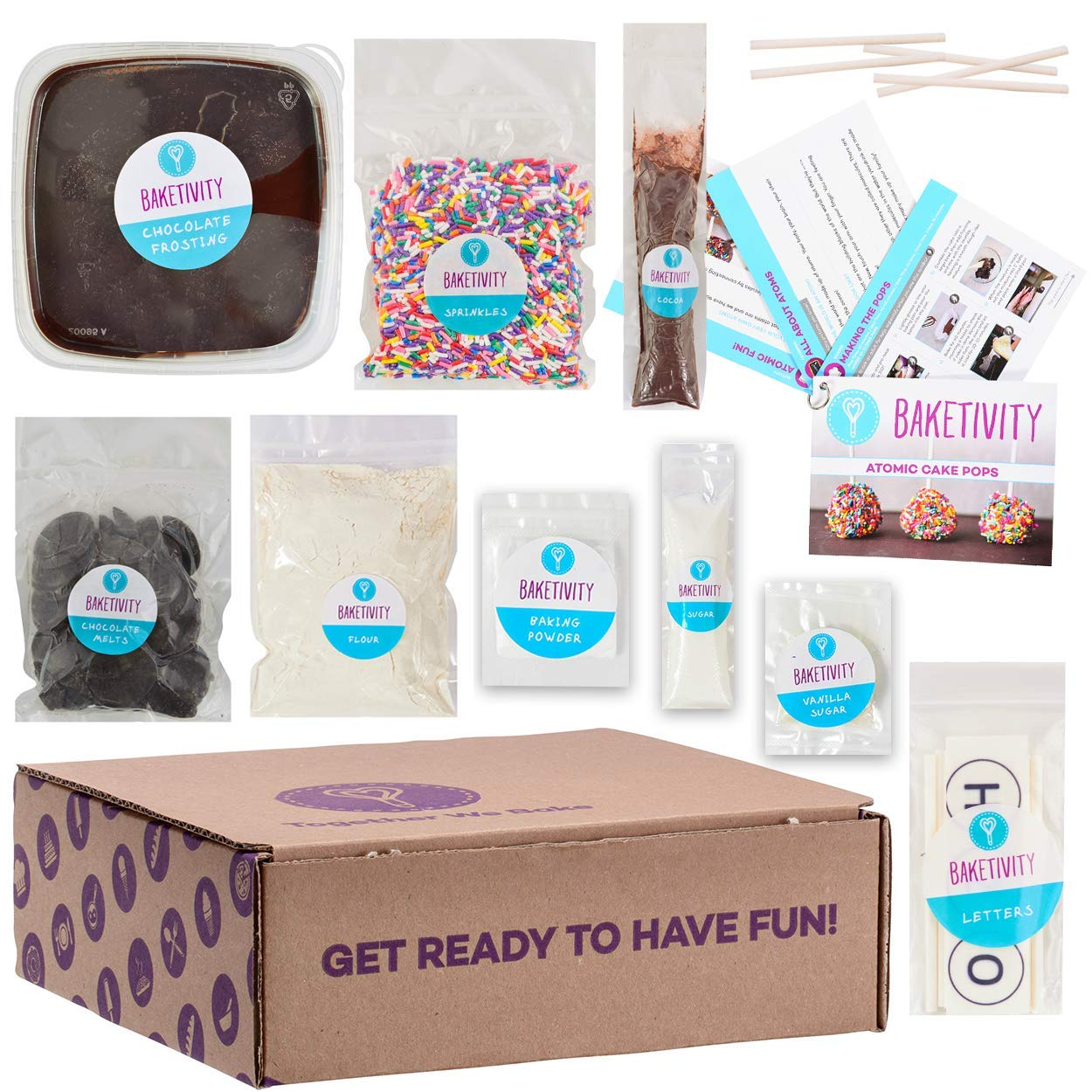 BAKETIVITY Kids Baking DIY Activity Kit - Bake Delicious Cake Pops With Pre-Measured Ingredients - Best Gift Idea For Boys And Girls Ages 6-12 by Baketivity