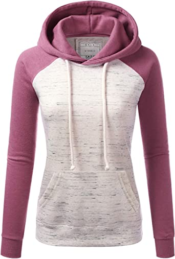 Doublju Womens Casual Lightweight Long Sleeve Pullover Hoodie with Plus Sizes