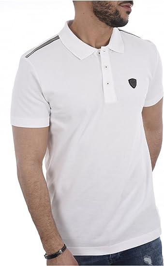 Emporio Armani - Polo - para Hombre Blanco Blanco Medium: Amazon ...