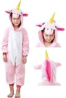36394663f5eb Amazon.com  NEWCOSPLAY Onesie Unisex Kids Unicorn Cosplay Animal ...