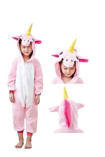 6496bcff1e34 Amazon.com  Animal Onesie Unicorn Pajamas for Adults Kids Unisex Cartoon  Outfit