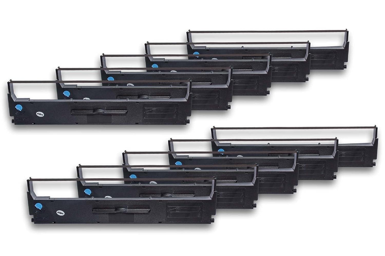 LQ200 LQ350 sostituisce C13S015633. LQ-350 LQ-300 LQ300 vhbw 10x nastro in nylon per stampante ad aghi Epson LQ-200