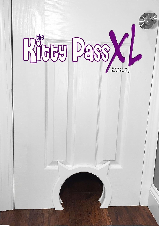 The Kitty Pass XL Large Cat Door, Interior Large Pet Door Hidden Litter Box. : Pet Supplies