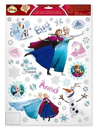 Fensterbild 45-TLG. Winter Frozen die Eiskönigin Anna ELSA Olfaf ...