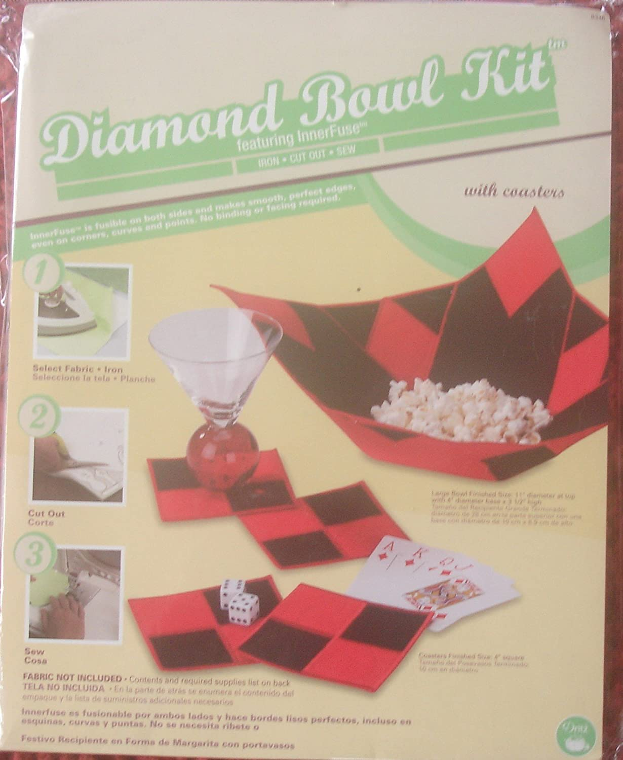 Amazon.com: Dritz Diamond Bowl Kit with Coasters (An Innerfuse Kit ...