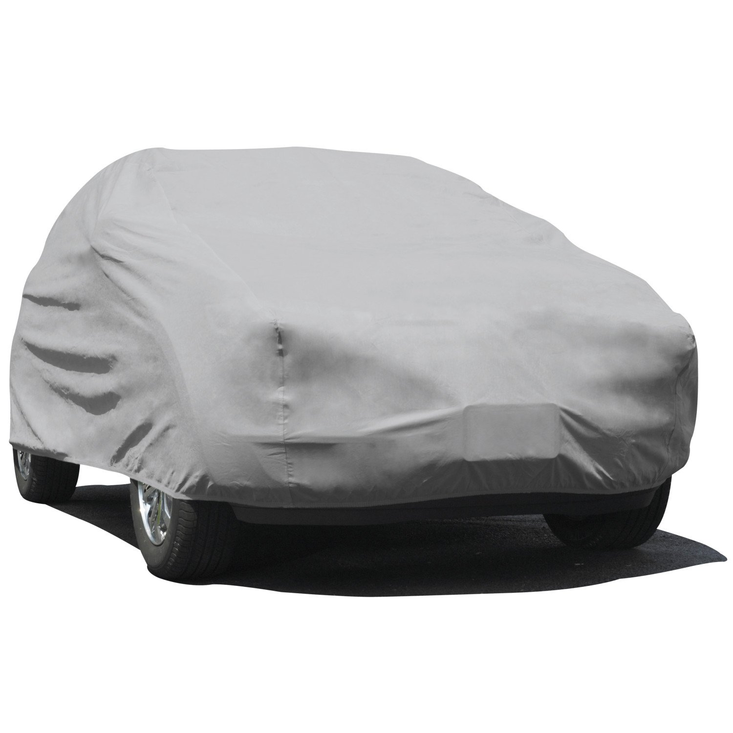 Budge Rain Barrier SUV Cover Fits Large SUVs up to 229 inches, URB-3 - (Polypropylene with Waterproof Film, Gray)