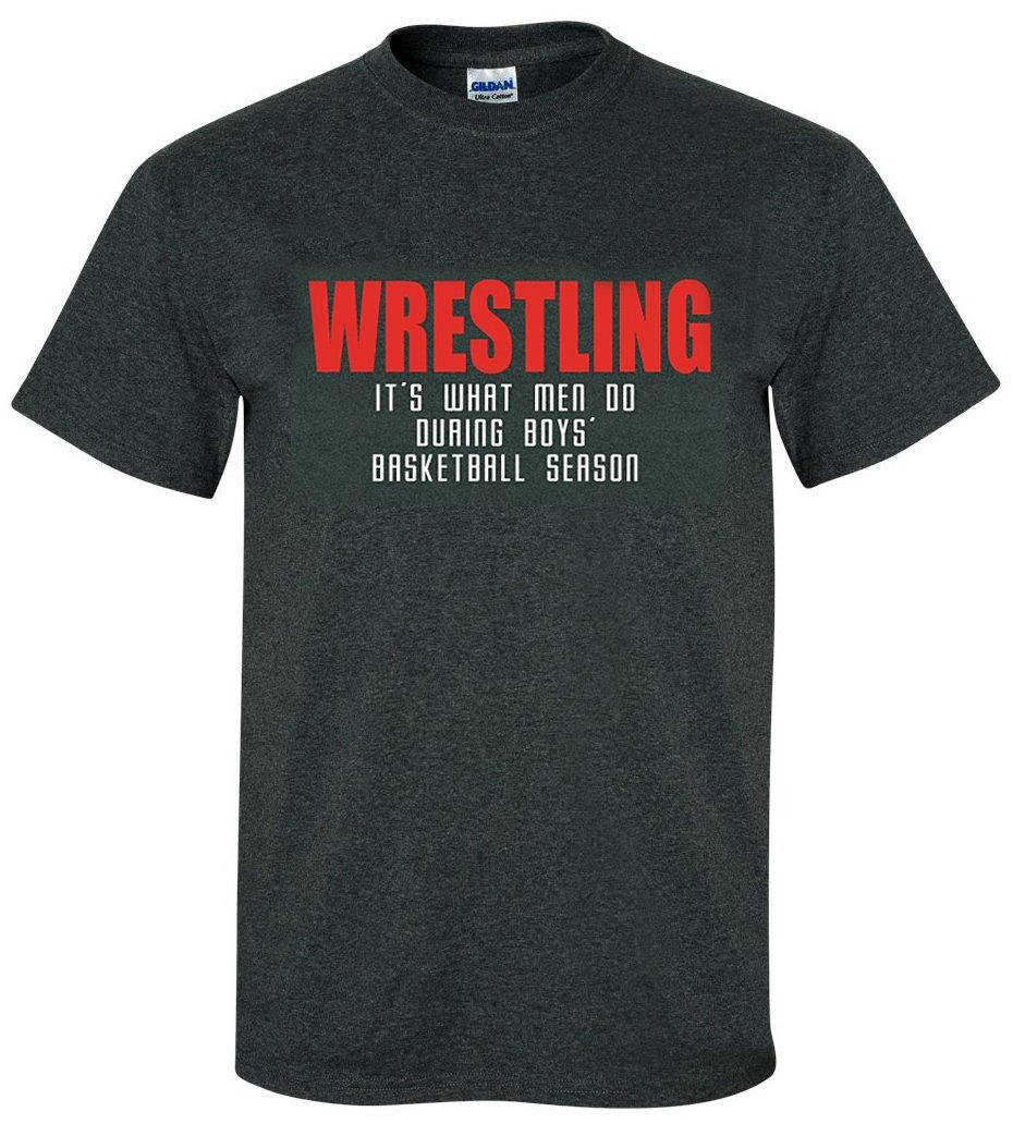 Wrestling T-Shirt: What Men Do-Adult Large