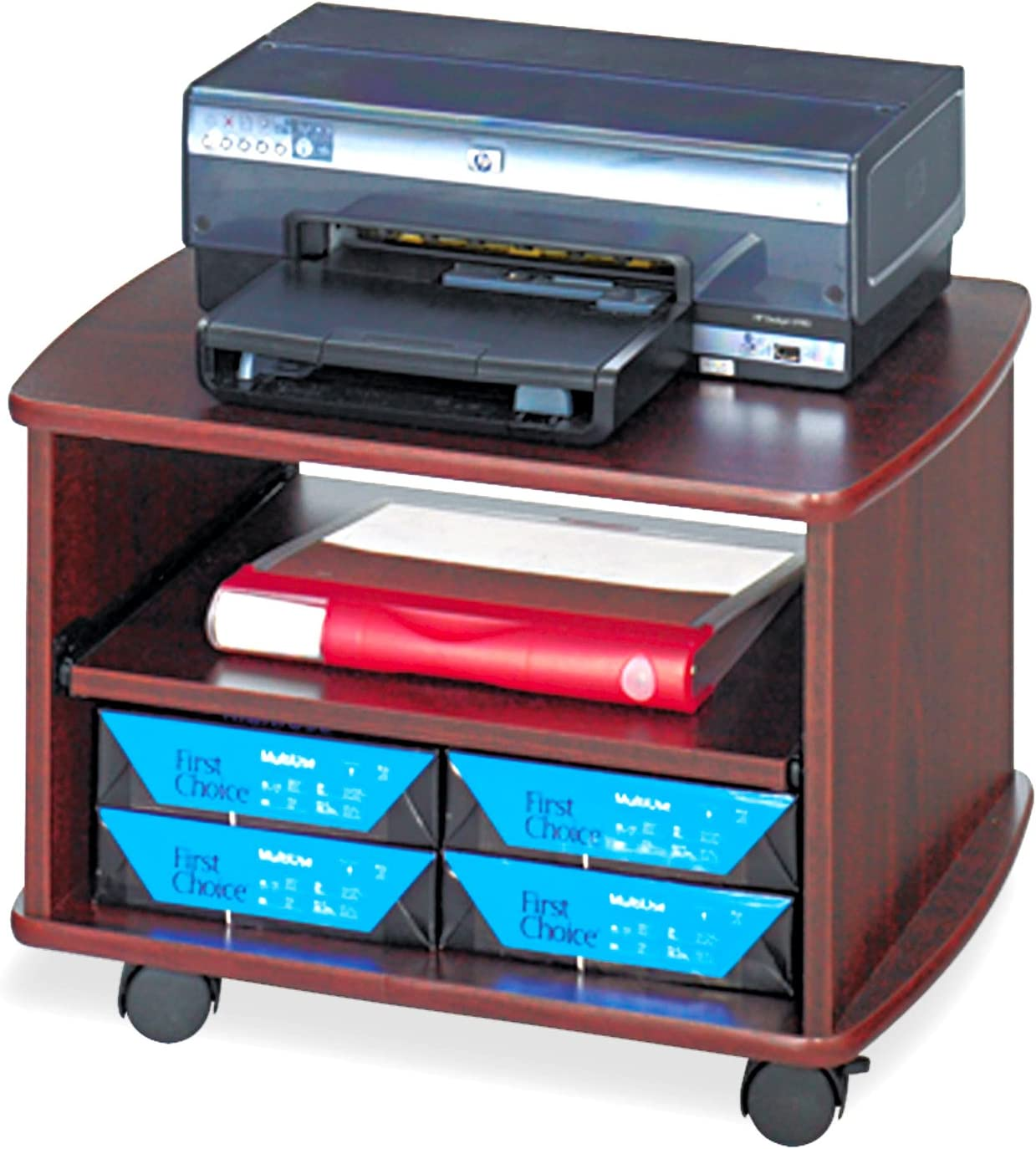 Safco Products Picco Duo Printer/Fax Machine Stand, Mahogany 141[並行輸入]
