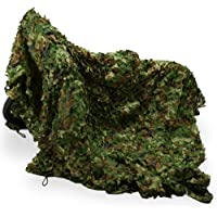 Camouflage Net, 4.9x16.4Ft Camping Outdoor Jungle Camouflage Woodlands Camo Hunting Shooting Sunscreen Nets