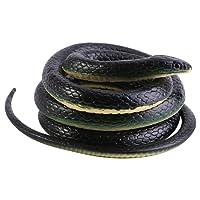 Serpent Simulation en Caoutchouc Figurine d'Animaux Souple Snake Jouet Plaisanterie Cadeau pour Garçon Fils 120cm