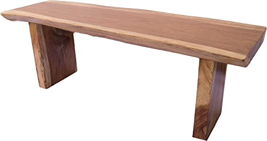 MAMMUT - Mesa de madera maciza, de tronco, aspecto de acacia ...