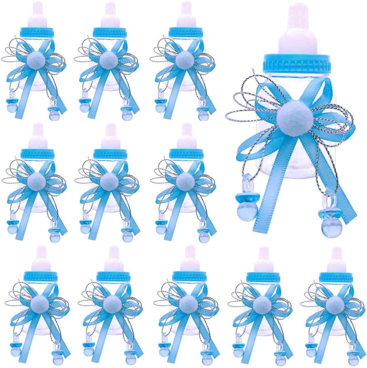 JZK 24 x Bleu biberon bouteille de bonbons bouteille de faveur bo/îtes bo/îte cadeau pour les faveurs confettis friandises cadeaux et bijoux pour les enfants
