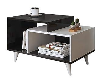 Homidea Sage Table Basse Blanc Noir Table D Appoint Table