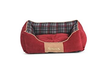 Scruffs Cama para Perro Highland, Modelo pequeño (50 x 40 cm, de Color Rojo): Amazon.es: Productos para mascotas