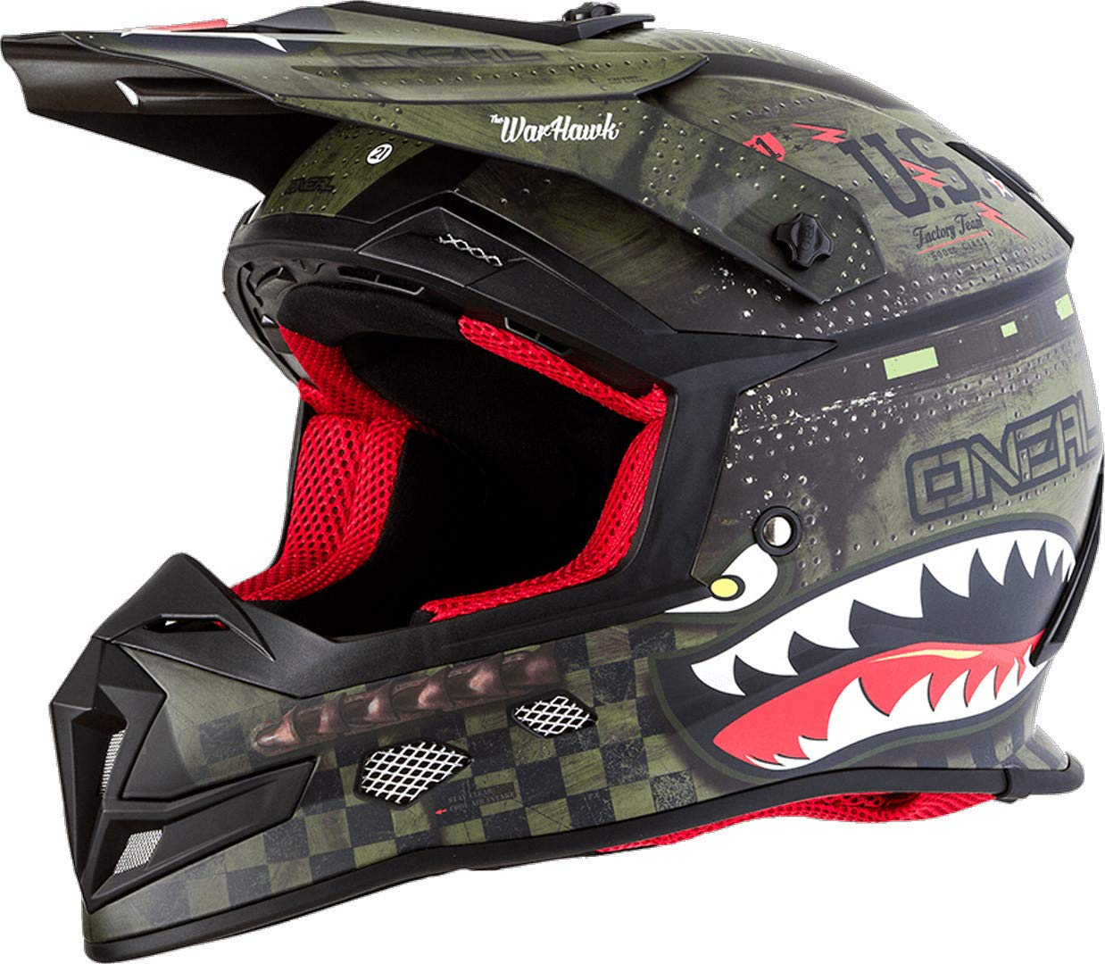 ONeal Unisex-Adult Off-Road Style 5 SRS Warhawk Helmet BLK//GRN S Black//Green Small O/'Neal 0618-282