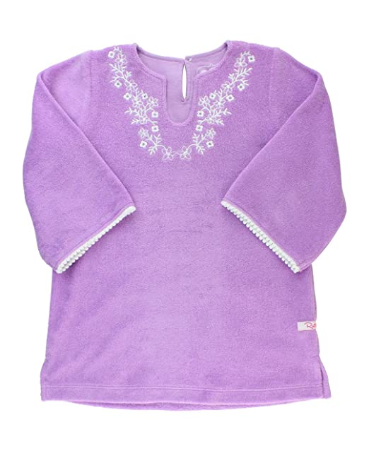 d046c90097 Amazon.com  RuffleButts Little Girls Lilac Terry Tunic Long Sleeve Swimsuit  Cover Up  Clothing