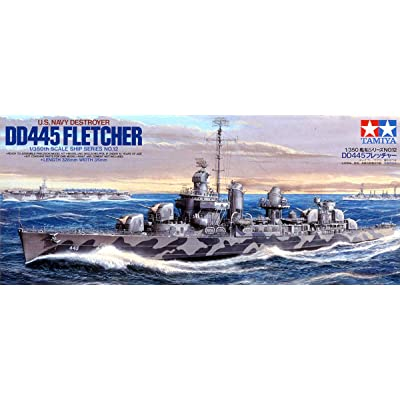 Tamiya Models Fletcher Class Destroyer: Toys & Games