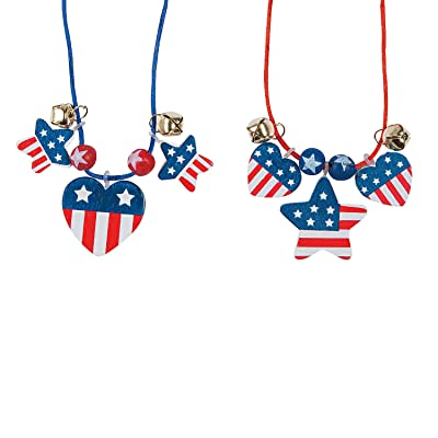 Patriotic Wood Necklace Craft Kit - Crafts for Kids and Fun Home Activities: Toys & Games