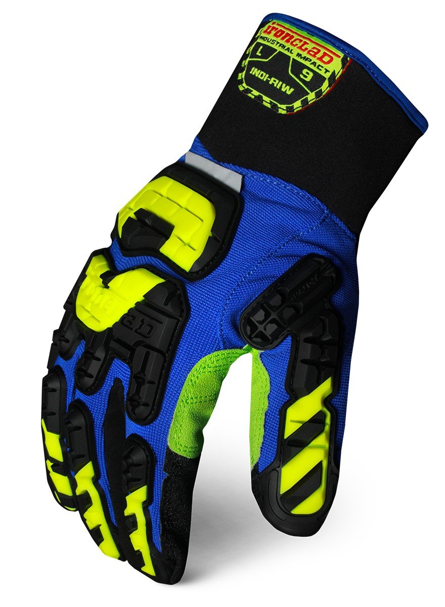Ironclad INDI-RIW-06-XXL Industrial Impact Rigger Insulated Waterproof Gloves, XX-Large
