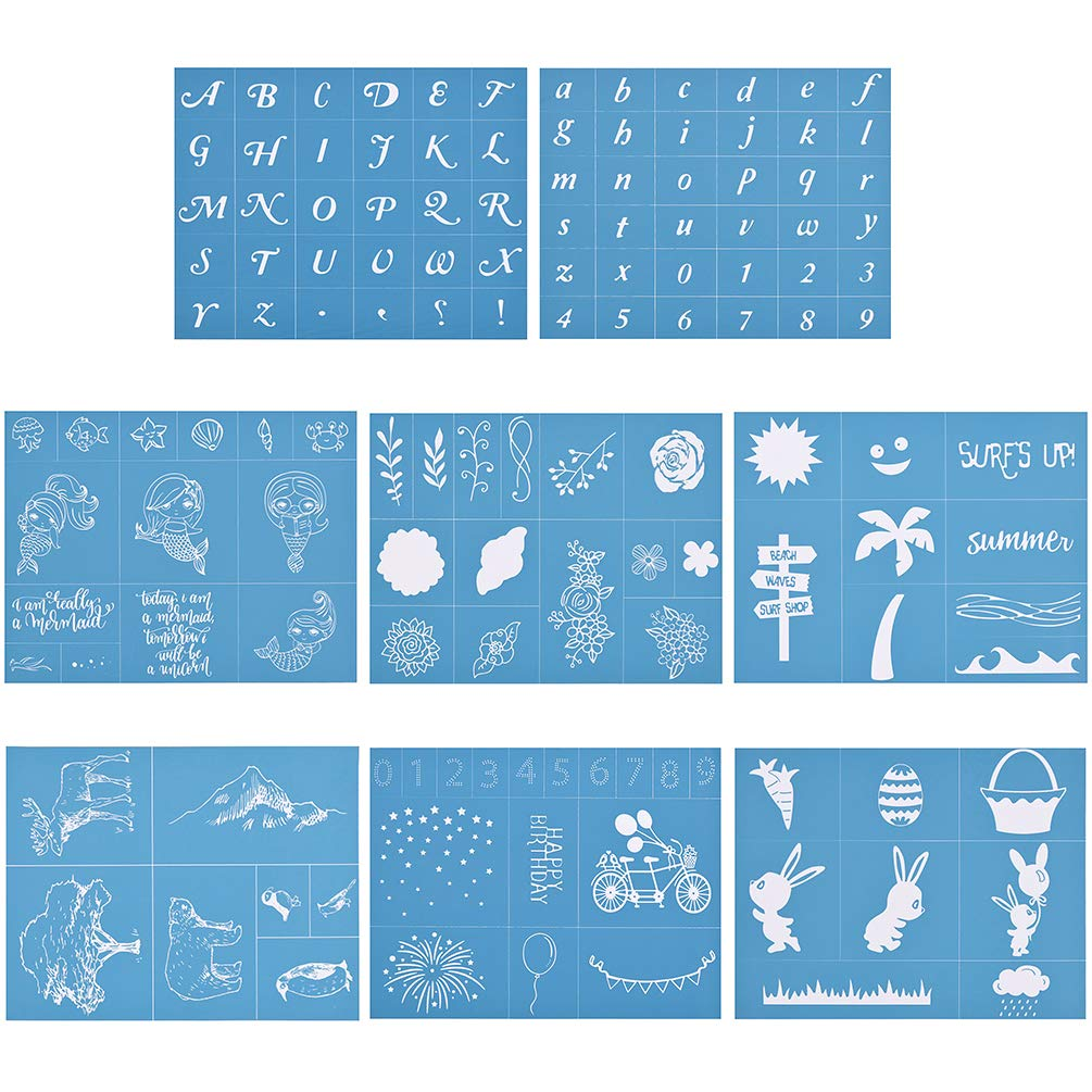 Silk Screen Stencils Candy Drawing Stencil Self-Adhesive Washable DIY Craft 8.5x11 Inch Paints Transfer