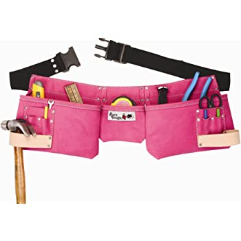 Born Tough 4-PRW 9-pocket Suede Leather Women's Pink Tool Belt