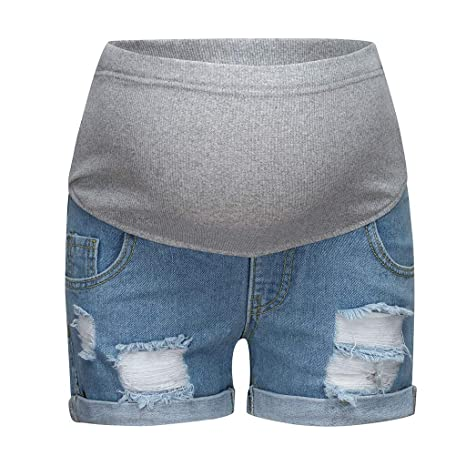 XXIAZHI, Sacurity Jeans de Maternidad de Verano Pantalones ...