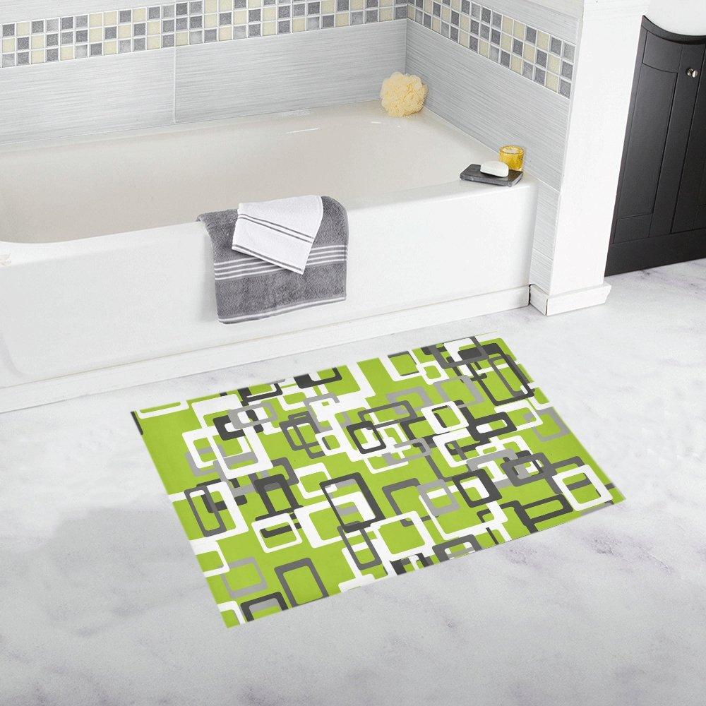 Pattern Abstract Form Four Corner Squares Unique Custom Bathroom ...