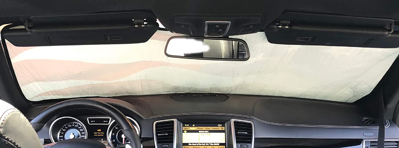 Intro-Tech TT-911-P Silver Custom Fit Premium Folding Windshield Sunshade for Select Toyota Avalon Models